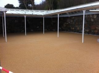 Herm - patio area after