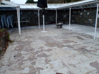 Herm - patio area before