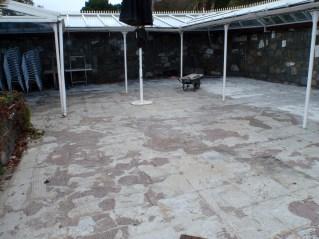 Herm - patio area before